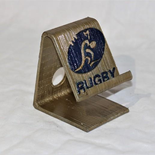 Télécharger STL gratuit Téléphone de rugby Australie, M3DPrint