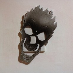 STL Fire skull light switch cover, M3D-Print