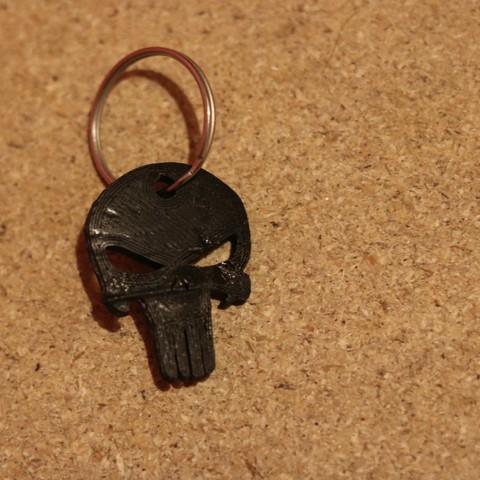 IMG_0423.JPG Download free STL file Punisher Keychain  • 3D printing model, M3DPrint