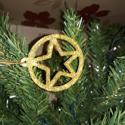 Star tree decoration pic 1.jpg Download STL file Circled Star Christmas tree decoration. • 3D printer object, M3DPrint
