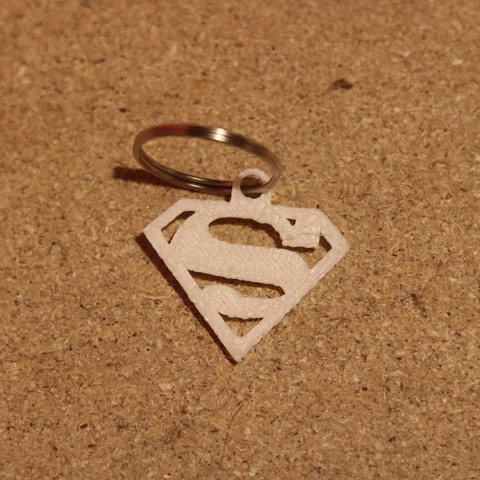 Free 3D printer designs superman keychain, M3DPrint