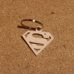 Download free STL superman keychain, M3DPrint