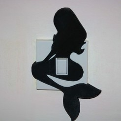 Download 3D print files Mermaid light switch cover , M3DPrint