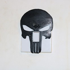 Free 3D printer designs Punisher Light switch cover, M3D-Print