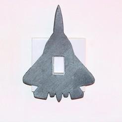 jet lightswitch picture.jpg Télécharger fichier STL Couvercle d'interrupteur de lumière de jet • Plan imprimable en 3D, M3DPrint