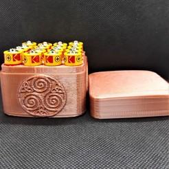 16x AA celtic trinity spiral box pic 1 bbg.jpg Télécharger fichier STL Boîte de piles spirales Celtic Trinity 16x AA • Objet pour impression 3D, M3DPrint