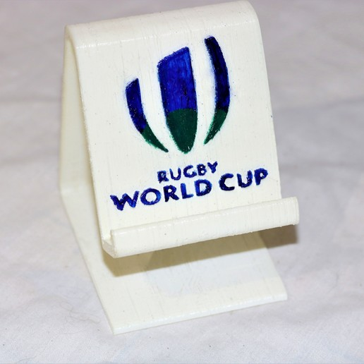 Download free STL file Rugby world cup phone stand  • 3D printing object, M3DPrint