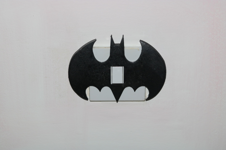 batmanlightswitch pic.JPG Download free STL file Batman Light switch cover • 3D printer object, M3DPrint