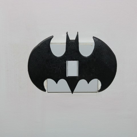 Free 3D printer files Batman Light switch cover, M3DPrint