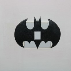 Free 3d printer files Batman Light switch cover, M3D-Print