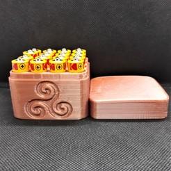 16x AA celtic trinity circled battery box pic 2 bbg.jpg Télécharger fichier STL Boîte de piles Celtic Spiral 16x AA • Modèle pour imprimante 3D, M3DPrint