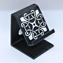 Descargar archivo 3D Soporte de teléfono de nudo cuadrado celta, M3DPrint