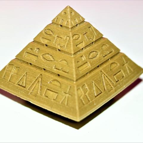 Free 3D printer designs Piramid Starship Stargate, M3DPrint