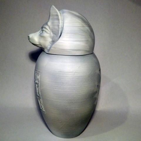 duamutef02.jpg Download STL file Ancient Egyptian Canopic Jars • 3D printer object, voxinaudita