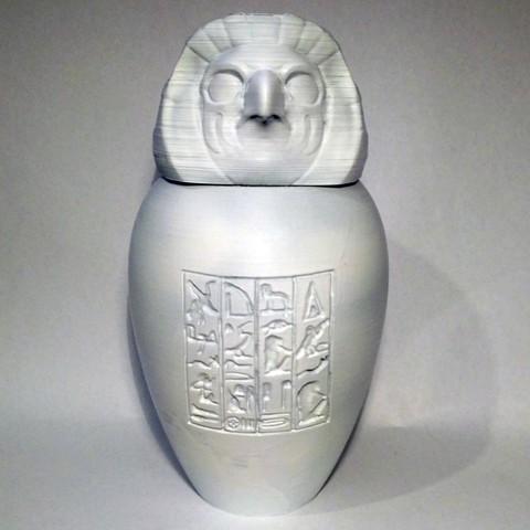 qebehsebuef01.jpg Download STL file Ancient Egyptian Canopic Jars • 3D printer object, voxinaudita