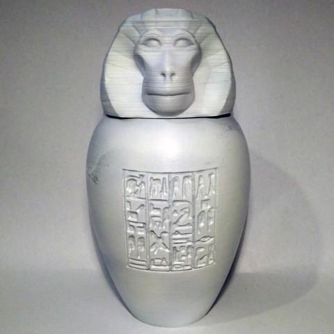 hapi01.jpg Download STL file Ancient Egyptian Canopic Jars • 3D printer object, voxinaudita