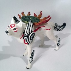 01.jpg Download STL file Okami Amaterasu • 3D print model, voxinaudita