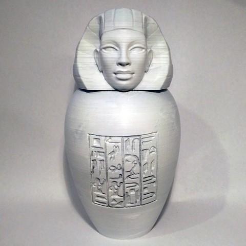 imsety01.jpg Download STL file Ancient Egyptian Canopic Jars • 3D printer object, voxinaudita
