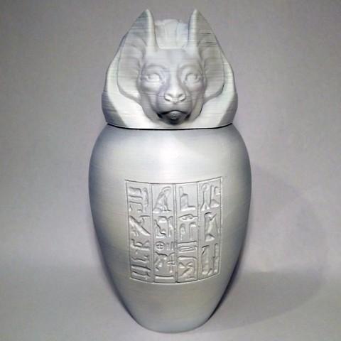 duamutef01.jpg Download STL file Ancient Egyptian Canopic Jars • 3D printer object, voxinaudita