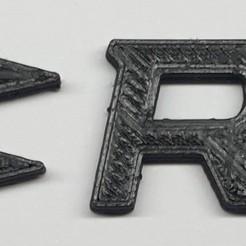 Logo Renault Sport.jpg Download free STL file Renault Sport RS logo • 3D printer model, Muse3D