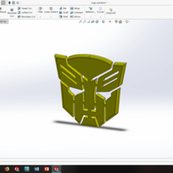 Free STL files TRANSFORMERS autobots logo badge, lamarmotte