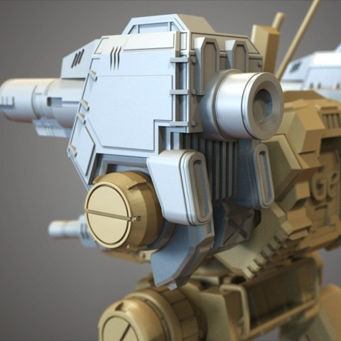 23.jpg Download free STL file Mechwarrior Catapult Assembly Model warfare set • 3D print template, Maverik