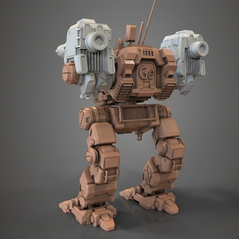 for tinghiverse 1.jpg Download free STL file Mechwarrior Catapult Assembly Model warfare set • 3D print template, Maverik
