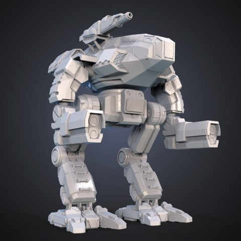Download free 3D printer designs FanArt Battletech Marauder 3D Model Assembly Kit, Maverik
