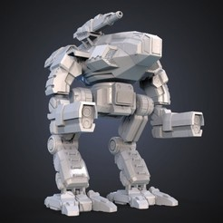 Free stl file FanArt Battletech Marauder 3D Model Assembly Kit, Maverik