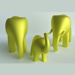 1.jpg Download STL file ELEPHANT FAMILY • 3D print object, JoseBisneto