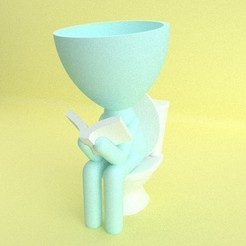 1.jpg Download STL file VASE STYLE ROBERT PLANT - TOILET • Object to 3D print, JoseBisneto
