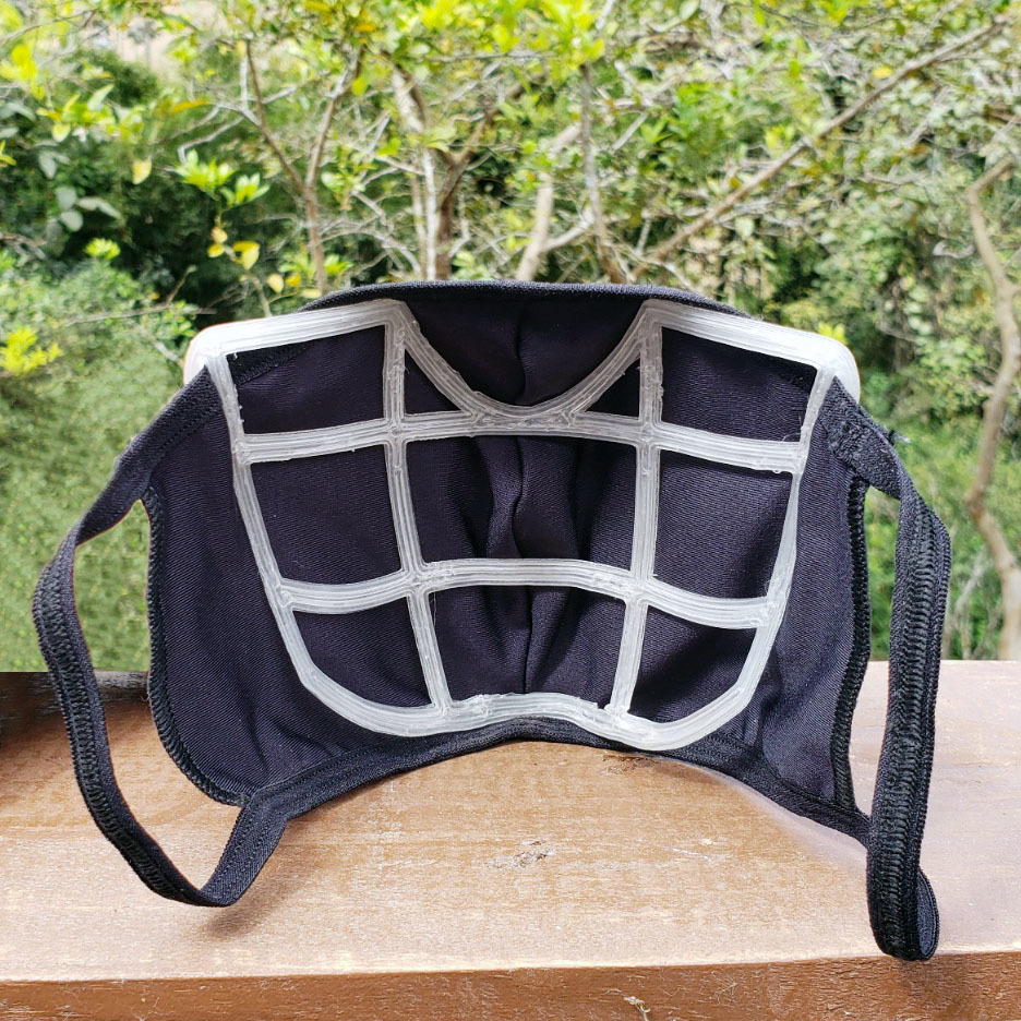 20200829_100620_min.jpg Download STL file Fabric Mask Insert Comfort Upgrade - EASY BREATHING - Alternative Version • Object to 3D print, aarthur