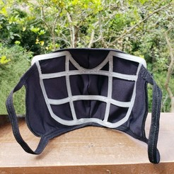 20200829_100620_min.jpg Download STL file Fabric Mask Insert Comfort Upgrade - EASY BREATHING - Alternative Version • Object to 3D print, aarthur