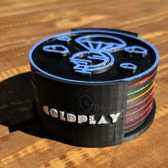 cults_1.jpg Download 3MF file Coldplay Discography Coasters • 3D printable template, aarthur