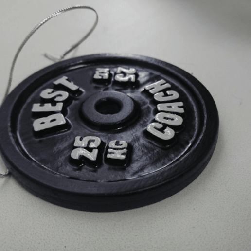 Download free 3D printing templates Best Coach Barbell Plate, Staf26