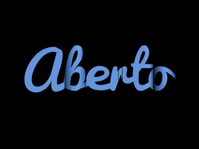 aberto.jpg Download STL file Letreiro Aberto Fechado para lojas • 3D print template, TheMeiquer