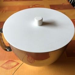 Impresiones 3D gratis Tapa del recipiente de la ayuda de cocina, koenvg1117