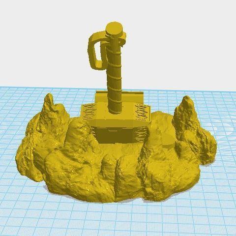 newthor2.JPG Télécharger fichier STL Support de téléphone à marteau de Thor • Modèle pour impression 3D, ED2014
