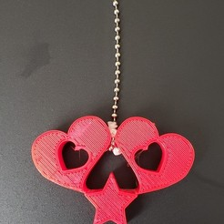 Download free 3D printing templates 2 Hearts and a star light pull, ED2014