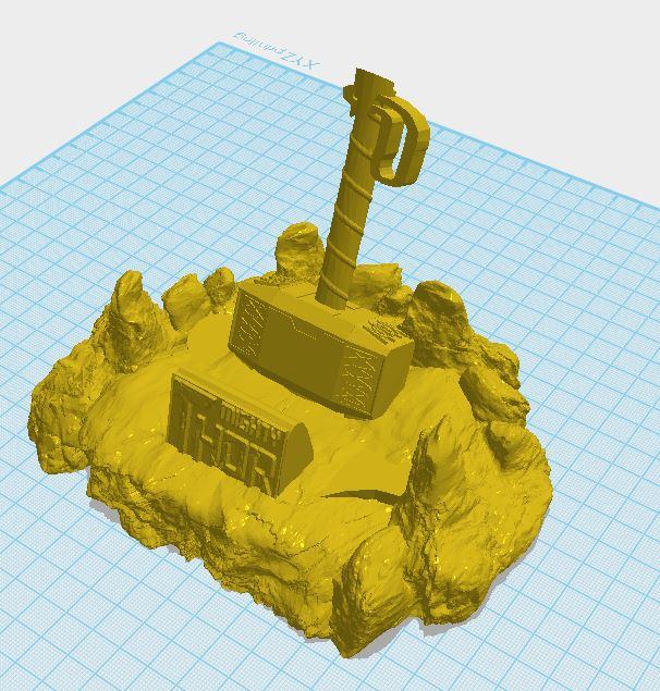 newthor1.JPG Télécharger fichier STL Support de téléphone à marteau de Thor • Modèle pour impression 3D, ED2014