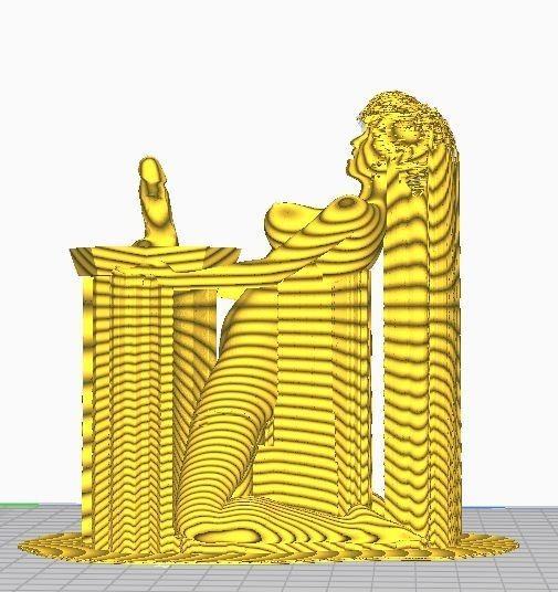 elfpic6.jpg Télécharger fichier OBJ Elfe Femelle Nue avec Pénis Offrant aux Dieux du Sexe • Objet imprimable en 3D, ED2014