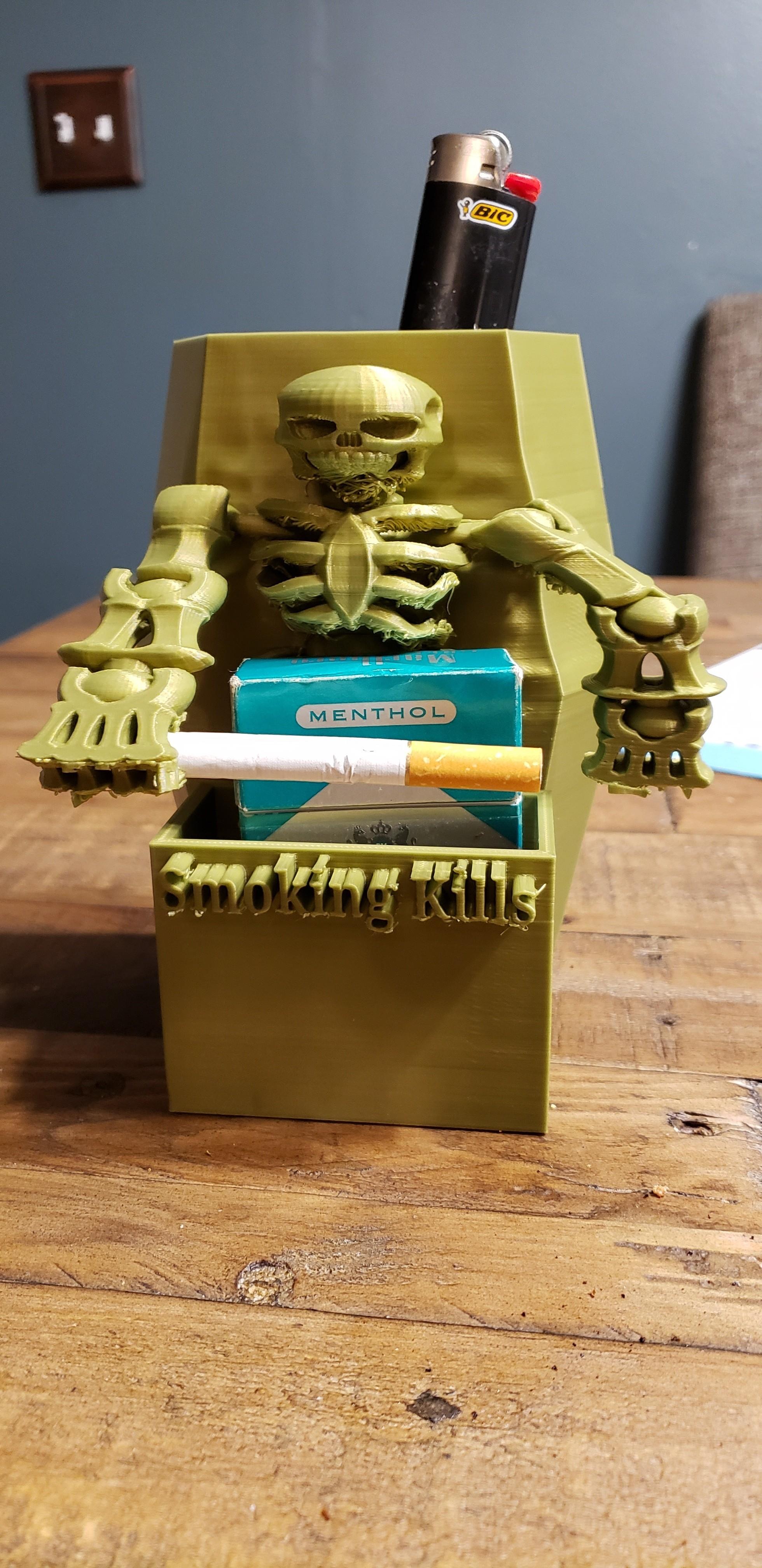 20190404_203819.jpg Download free STL file #XYZCHALLENGE Smoking Kills Cigarette Pack Holder • 3D printable template, ED2014