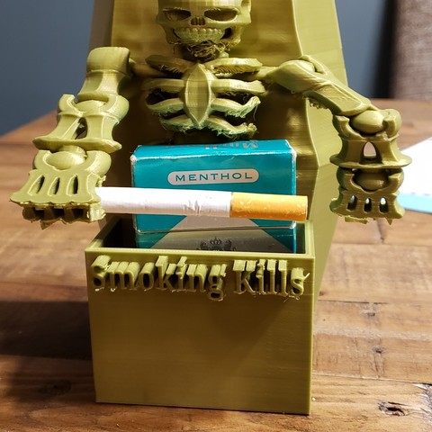 Download free 3D printer templates #XYZCHALLENGE Smoking Kills Cigarette Pack Holder, ED2014