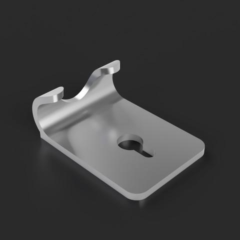 wall razor holder 2.jpg Télécharger fichier STL gratuit Support de rasoir • Design imprimable en 3D, Arostro