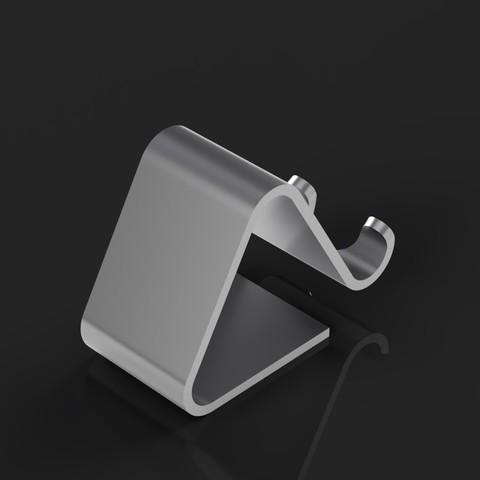phone_holder_2.jpg Télécharger fichier STL gratuit Support de téléphone • Plan pour impression 3D, Arostro