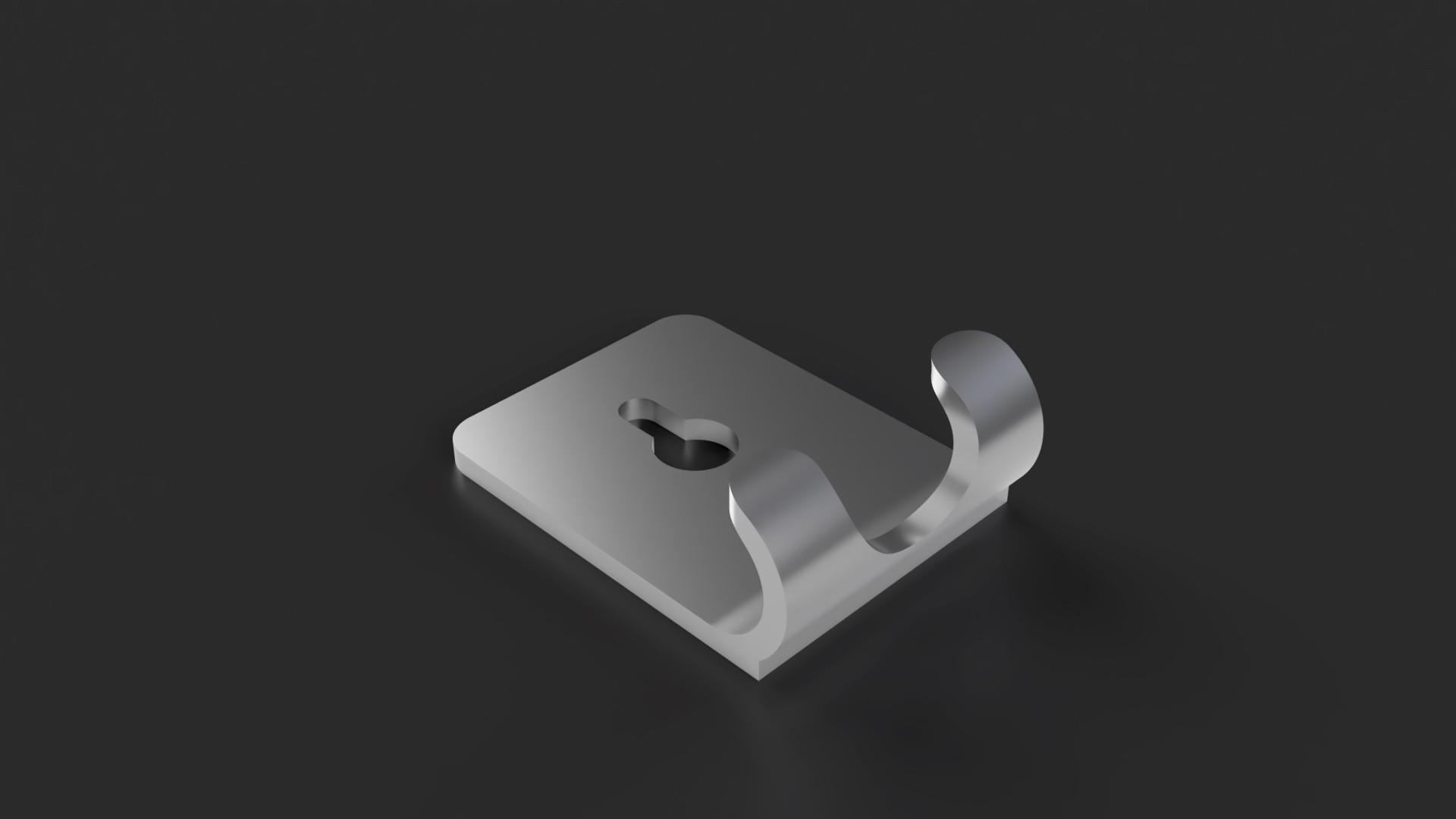 wall razor holder 1.jpg Télécharger fichier STL gratuit Support de rasoir • Design imprimable en 3D, Arostro