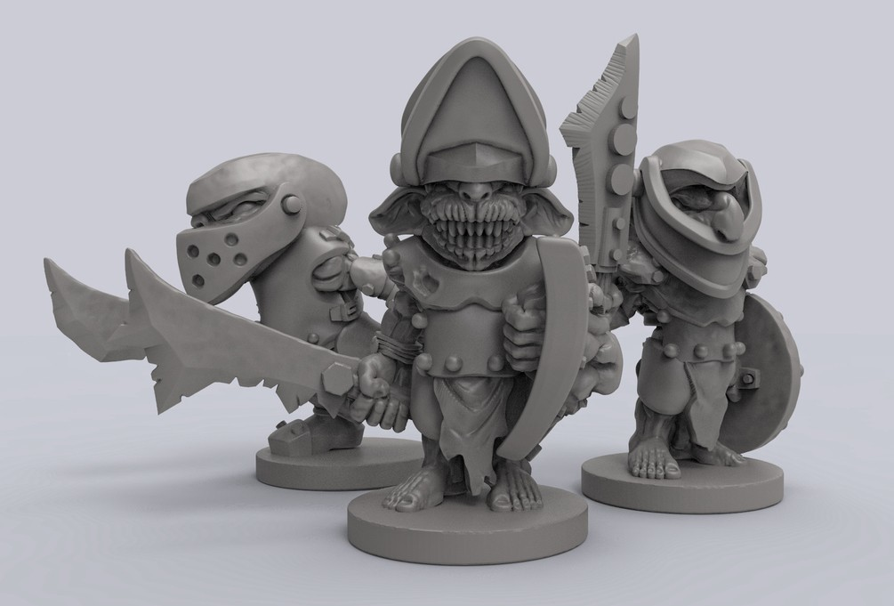 494b44c525cd7634a4c08cc924a05d6c_display_large.jpg Download free STL file Armoured Goblins • 3D printer model, duncanshadow