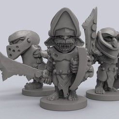 Download free 3D printing designs Armoured Goblins, duncanshadow