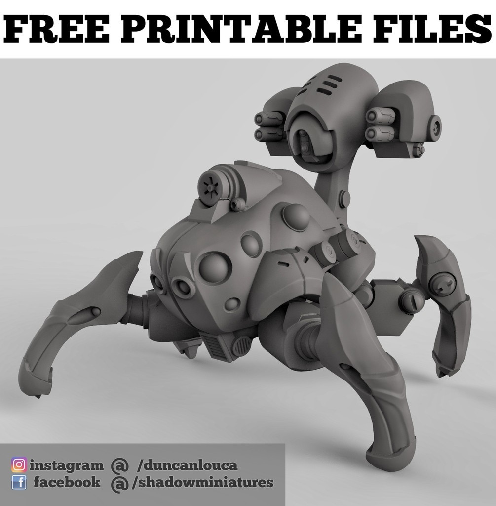 7bfed72d54cfb8ab794c78586c087623_display_large.jpg Download free STL file Robot Spider • 3D print design, duncanshadow