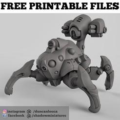 Free stl file Robot Spider, duncanshadow